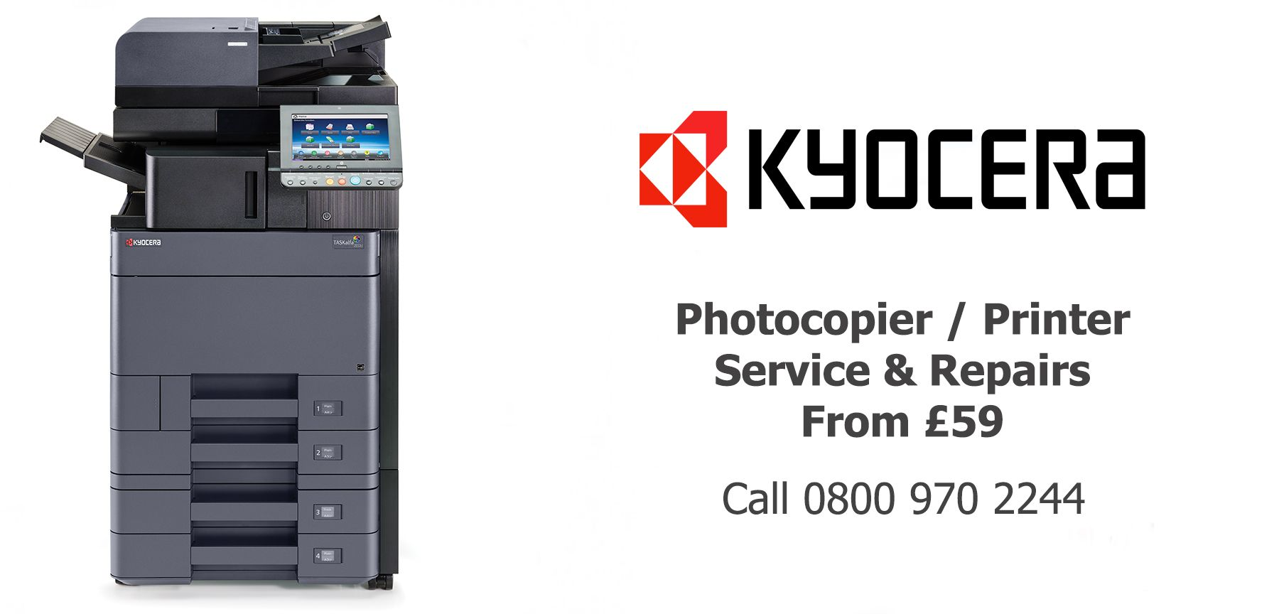 Kyocera TASKalfa photocopier service and repairs in Halifax Burnley Accrington Colne